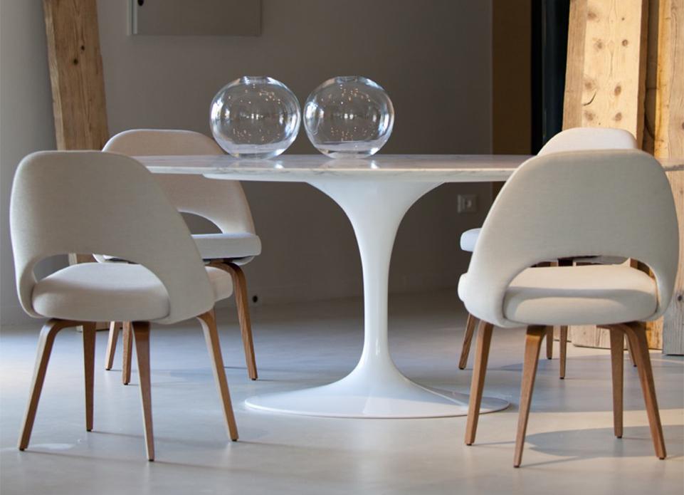 Tavolo Saarinen Marmo : Knoll tavolo e sedia conference saarinen